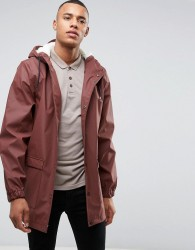 D-Struct Mid Length Water-Resistant Jacket with Hood - Red