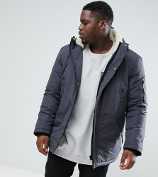 D-Struct PLUS Borg Lined Parka Jacket - Grey