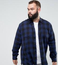 D-Struct PLUS Buffalo Check Shirt - Navy