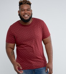 D-Struct PLUS Geo Print T-Shirt with Pocket - Red