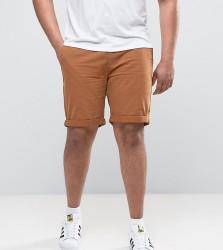 D-Struct PLUS Turn Up Chino Shorts - Tan