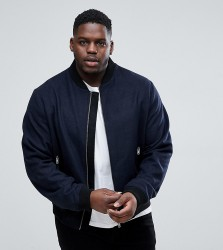 D Struct PLUS Wool Bomber Jacket - Navy