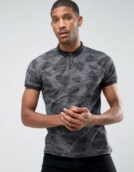 D-Struct Printed Polo Shirt - Grey