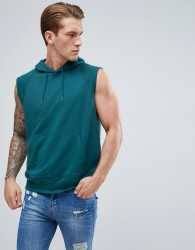 D-Struct Sleeveless Hooded Sweat - Green