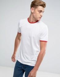 D-Struct Slim Fit Ringer T-Shirt - White