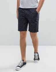 D-Struct Spot Print Shorts - Navy
