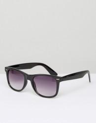 D-Struct Square Sunglasses In Black - Black