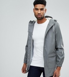 D-Struct TALL Mid Length Water-Resistant Jacket with Hood - Grey