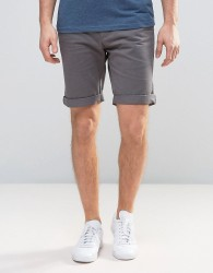 D-Struct Turn Up Chino Shorts - Grey