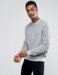 D-Struct Velour Crew Neck Sweatshirt - Grey