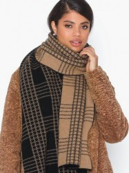 Dagmar Check jacquard scarf Tørklæder