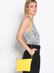 Dagmar Leather Strap Bag Håndtaske Gul