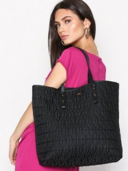 Dagmar Quilted Shopping Bag Håndtaske Sort