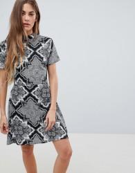 Daisy Street High Neck Printed Dress - Multi
