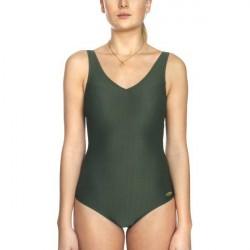 Damella Helen Jaquard Knit Swimsuit - Olive * Kampagne *