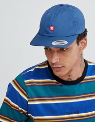 DC Shoes 6 Panel Strapback with Small Logo - Blue
