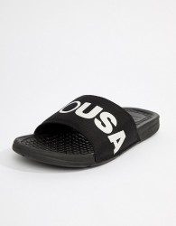 DC Shoes Bolsa Sliders In Black - Black