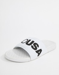 DC Shoes Bolsa Sliders In White - White