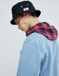 DC Shoes Bucket Hat with Logo in Black - Black