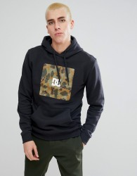 DC Shoes Hoodie With Camo Box Logo - Black