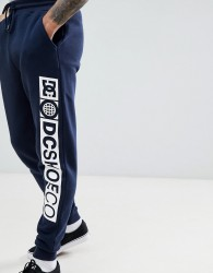 DC Shoes Joggers With Side Detail Logo In Navy - Navy