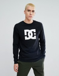 DC Shoes Long Sleeve T-Shirt With Star Logo in Black - Black