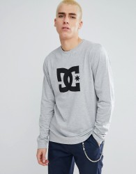 DC Shoes Long Sleeve T-Shirt With Star Logo in Grey - Grey
