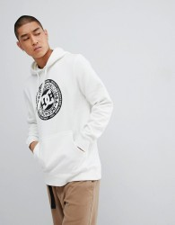 DC Shoes Overhead Hoodie with Chest Logo in White - White