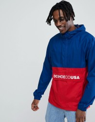 DC Shoes Sedgefield Colour Block Overhead In Red & Blue - Red