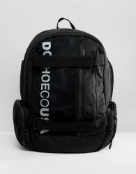 DC Shoes Skate Backpack in Black with Logo - Black