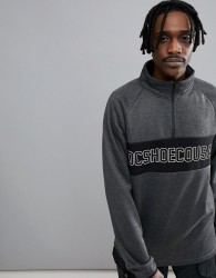 DC Shoes Snow Banner 1/4 Zip Sweatshirt in Bonded Fleece - Grey
