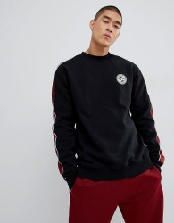 DC Shoes Sweatshirt with Sleeve Stripe in Black - Black