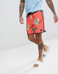 DC Shoes Swim Boardshort With Floral Print In Pink - Pink
