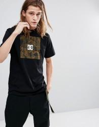 DC Shoes T-Shirt With Camo Box Logo - Black