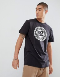 DC Shoes T-Shirt with Chest Logo Print in Black - Black
