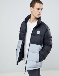 DC Shoes Water Resistant Puffer Coat with Reflective Panel in Black - Black