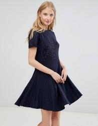 Deby Debo Alina Knit Skater Dress - Navy