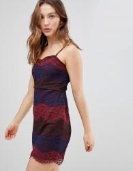 Deby Debo Deborah Multi Lace Slip Dress - Red
