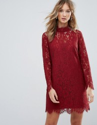 Deby Debo Dorothy Lace High Neck Dress - Orange