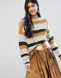 Deby Debo Flavie Stripe Wool Blend Jumper - Beige