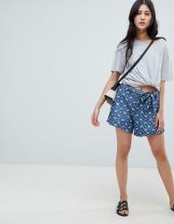 Deby Debo Fresh Print Denim Shorts - Blue
