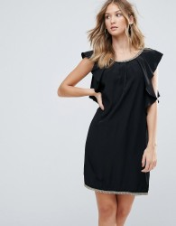 Deby Debo Frill Sides Cocktail Dress - Black