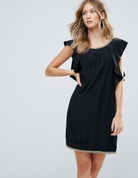 Deby Debo Frill Sides Cocktail Dress - Black