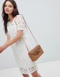 Deby Debo Guepe Crochet Lace Shift Dress - Cream