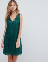 Deby Debo Heloise Mesh Lace Cocktail Dress - Blue