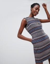 Deby Debo Iliana Patterned Dress - Beige