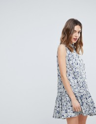 Deby Debo July Floral Print Shirt Dress - Blue