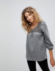 Deby Debo Orusa Embellished Blouse - Grey
