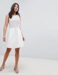 Deby Debo Pepita A-Line Dress - White