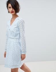 Deby Debo Phoolan Crochet Lace Dress - Blue